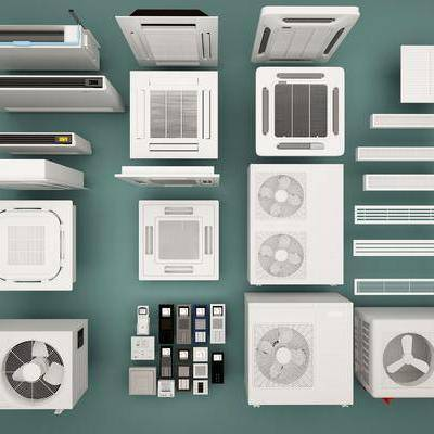 现代空调组合, 现代, 空调, 空调出风口, 中央空调
