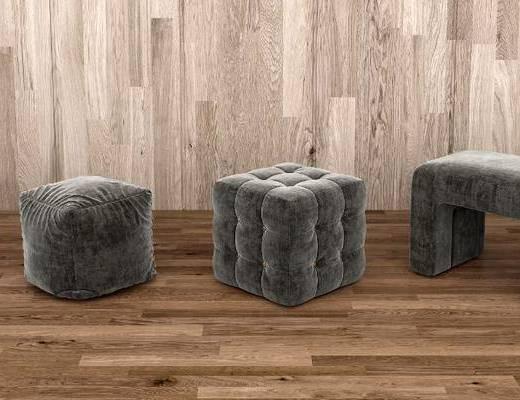 單人沙發, 坐墩