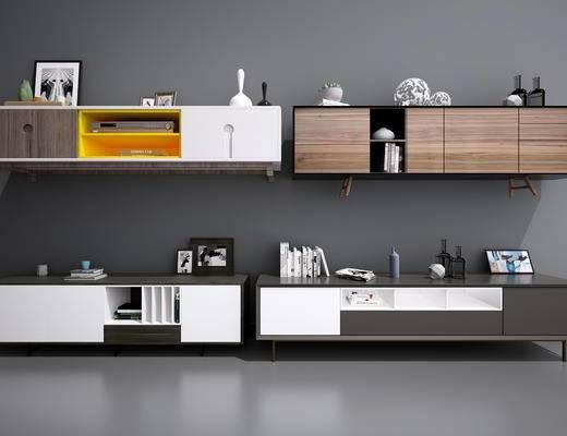 现代电视柜, 北欧电视柜, 中式电视柜, 现代, 北欧, 电视柜, 陈设品