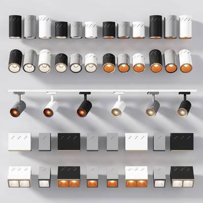 射灯, 筒灯, 轨道灯, 灯, 灯具