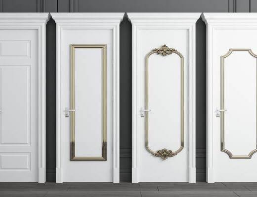 单开门, 房门, 实木门