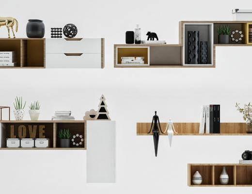 装饰柜, 边柜, 现代, 摆件