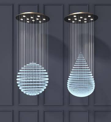 現代吊燈, 吊燈, 水晶吊燈