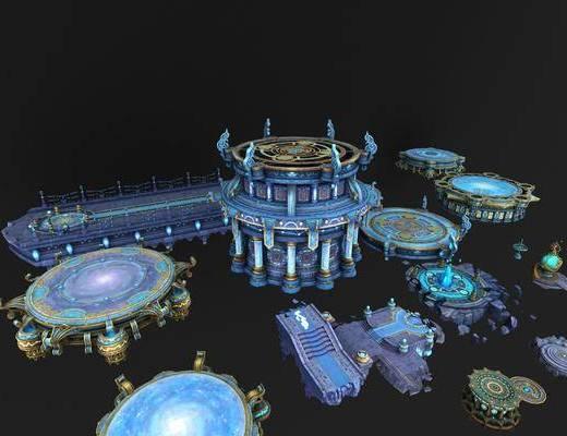 星空建筑, 游戏场景, 塔楼决斗场, 现代