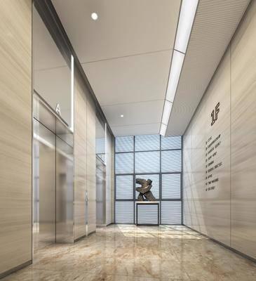雕塑, 摆件, 现代, 电梯厅