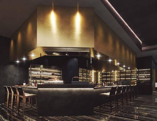 餐厅, 餐桌, 桌椅组合, 摆件, 单椅