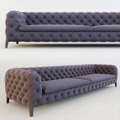 双人沙发, 绒布沙发, 现代