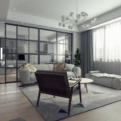 客厅, 北欧客厅, 沙发组合, 餐厅, 卧室, 卫生间