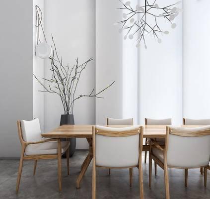 桌椅, 桌子, 椅子, 餐桌, 桌椅组合