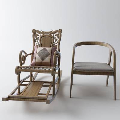 扶手椅, 摇椅, 单椅, 休闲椅