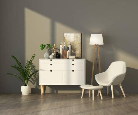 边柜, 陈设品, 单人沙发