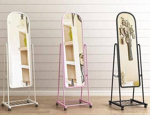 镜子, 落地镜, 全身镜, 现代落地全身镜3d模型