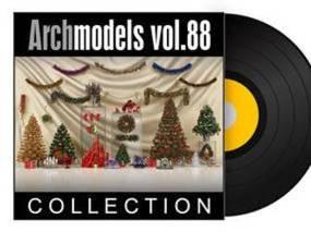 圣诞, 饰品, 装饰品, Evermotion, Archmodels, EV