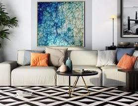 现代简约, 沙发茶几组合, 陈设品, 植物盆栽
