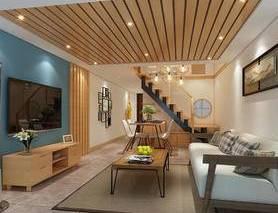 北欧, 现代, loft, 客厅, 餐厅