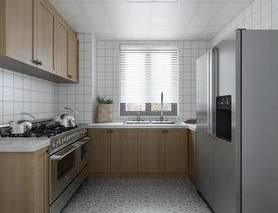 厨房, 现代, 北欧, 橱柜, 冰箱, 现代厨房