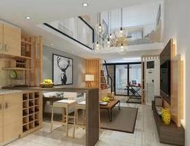 客厅, 餐厅, 厨房, loft, 客餐厅, 北欧