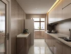 厨房, 橱柜, 冰箱, 洗手盆