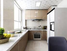 厨房, 橱柜, 冰箱, 厨具, 椅子, 窗