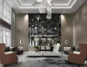 现代客厅, 客厅, 现代沙发, 沙发组合, 沙发茶几组合, 吊灯