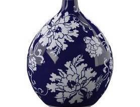中式, 青花瓷, 花瓶, 摆件, 陈设品