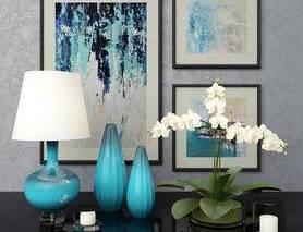 饰品, 摆件, 花瓶, 台灯