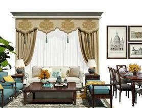 沙发组合, 沙发茶几组合, 餐桌椅, 桌椅组合, 窗帘, 装饰画