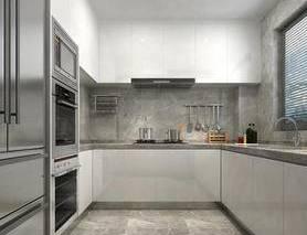 现代, 橱柜, 厨房用具, 家用电器