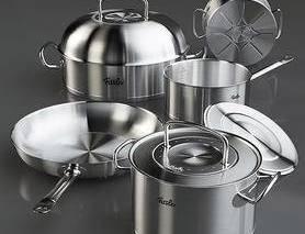 厨房, 锅具, 不锈钢, 拉丝, 铁锅
