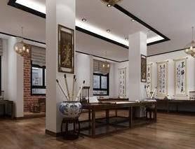 书法室, 书房, 中式, 桌椅, 书桌, 椅子