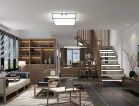 客厅, 中式客厅, 中式沙发, 沙发组合, 沙发茶几组合, 吸顶灯