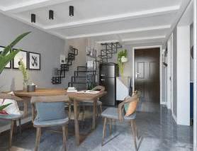 LOFT, 北欧风格, 客餐厅, 餐厅, 客厅, 餐桌椅