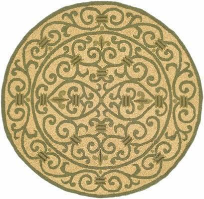 欧式地毯, 圆形地毯