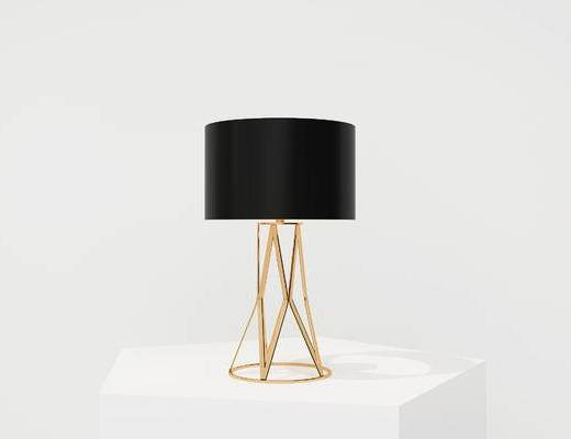 现代台灯, 金属台灯, 台灯