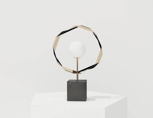 现代台灯, 金属台灯, 圆形台灯, 台灯