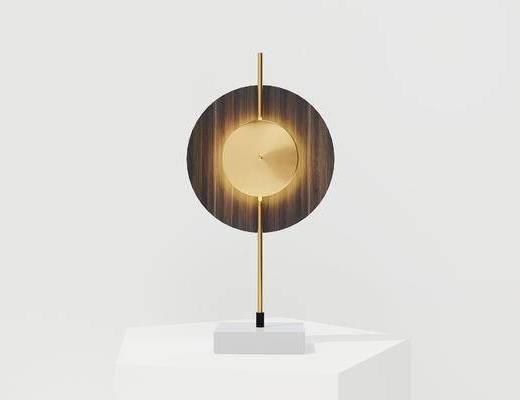 现代台灯, 木质台灯, 圆形台灯, 台灯