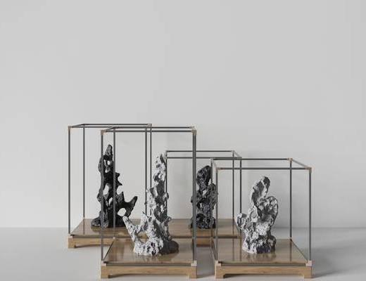 新中式雕塑, 雕塑雕刻, 飾品, 雕塑