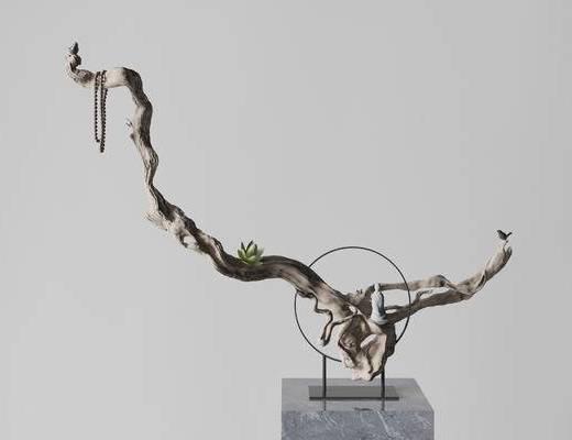 新中式木雕, 雕塑雕刻, 饰品