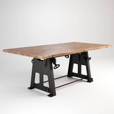 工业风桌子, 桌子, 边几