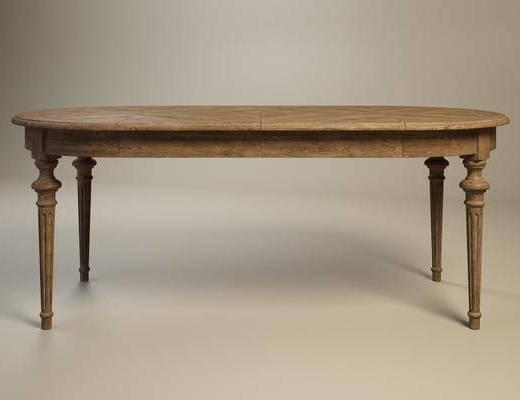 美式餐桌, 复古餐桌, 餐桌