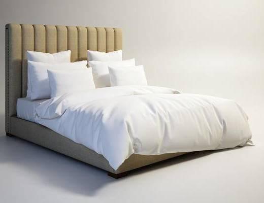 美式双人床, 复古双人床, 双人床