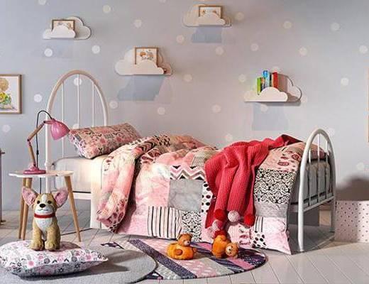 现代摆件, 儿童床, 摆件组合