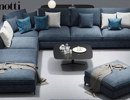 现代沙发, 转角沙发, 沙发, 多人沙发, 沙发组合