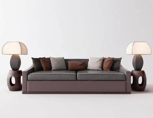 新中式沙发, 多人沙发, 沙发组合