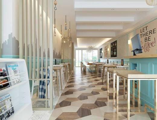 现代咖啡厅, 咖啡厅